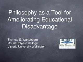 Philosophy as a Tool for Ameliorating Educational Disadvantage