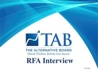 RFA Interview