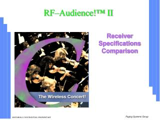 RF–Audience!™ II