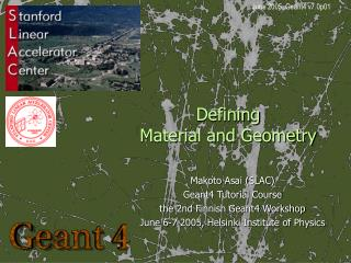 Defining Material and Geometry