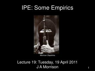 IPE: Some Empirics