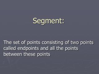 Segment: