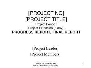 [Project Leader] [Project Members]