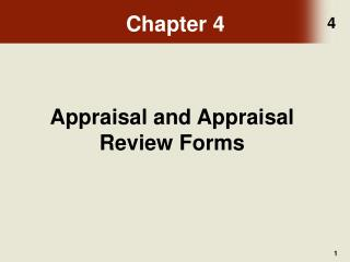 Appraisal and Appraisal Review Forms
