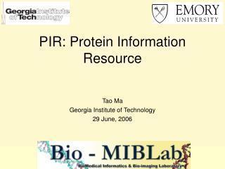 PIR: Protein Information Resource