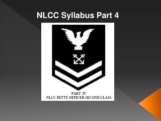 NLCC Syllabus Part 4