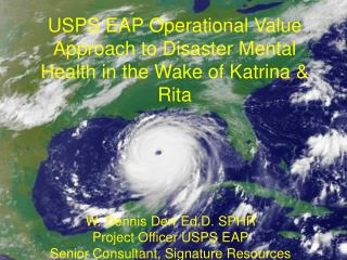 USPS EAP Operational Value Approach to Disaster Mental Health in the Wake of Katrina & Rita
