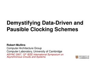 Demystifying Data-Driven and Pausible Clocking Schemes