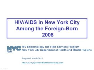 hiv aids in foreign born 2008