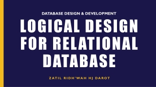 Logical Database Design -  Mapping ERD to Relational