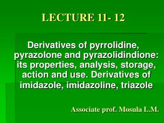 LECTURE 11- 12