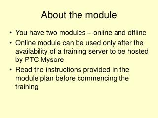 About the module