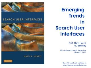 Emerging Trends in Search User Interfaces