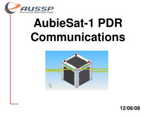 AubieSat-1 PDR Communications