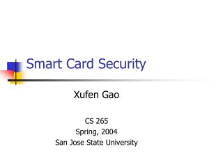 Smart Card Security