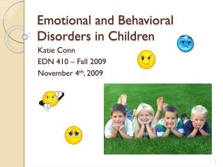 Emotional and Behavioral Disorders in Children