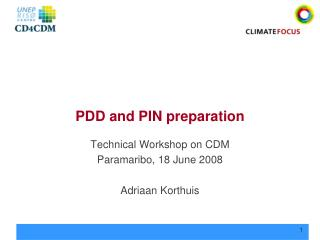 PDD and PIN preparation