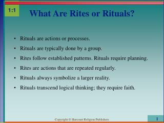 What Are Rites or Rituals?