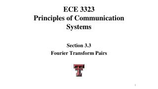 ECE 3323 Principles of Communication Systems