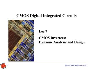 CMOS Digital Integrated Circuits