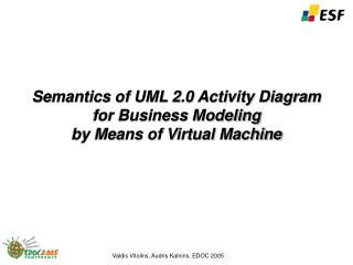 Semantics of UML 2.0 Activity Diagram for Business Modeling by Means of Virtual Machine