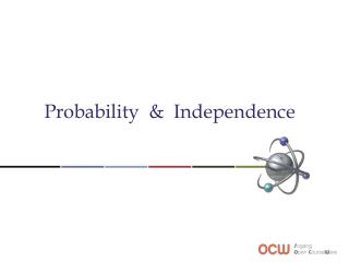 Probability & Independence