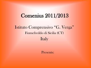 Comenius 2011/2013