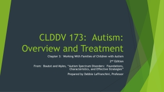 IEPs for Students with Autism Spectrum Disorders ASD: Support for Teachers and Parents