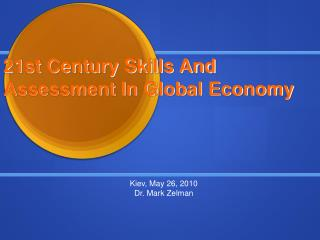 21st Century Skills And Assessment In Global Economy