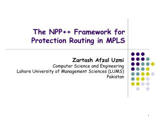 The NPP++ Framework for Protection Routing in MPLS