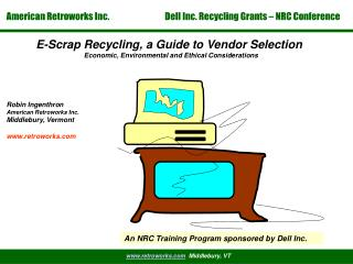 E-Scrap Recycling, a Guide to Vendor Selection