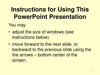Instructions for Using This PowerPoint Presentation