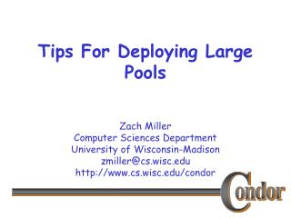 Tips For Deploying Large Pools