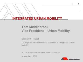 INTEGRATED  URBAN MOBILITY