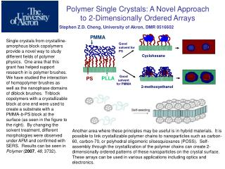 Polymer Single Crystals: A Novel Approach to 2-Dimensionally Ordered Arrays