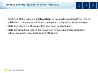 WHAT IS JOB POSTINGS DATA? (REAL-TIME LMI?)