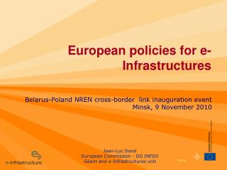 European policies for e-Infrastructures