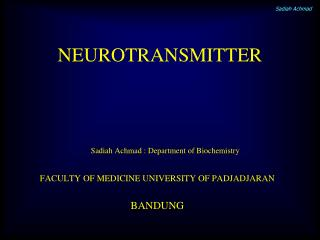 NEUROTRANSMITTER
