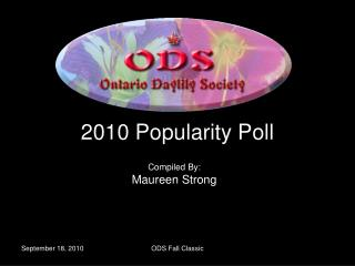2010 Popularity Poll