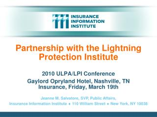 Partnership with the Lightning Protection Institute