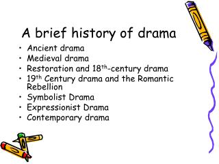 A brief history of drama