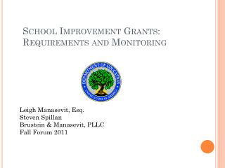 School Improvement Grants: Requirements and Monitoring