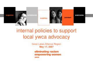 internal policies to support  local ywca advocacy Great Lakes Alliance Region May 17, 2007