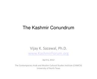 The Kashmir Conundrum