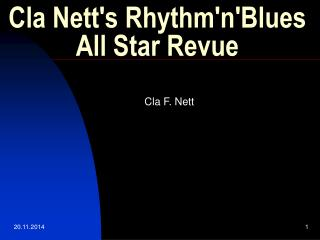 Cla Nett's Rhythm'n'Blues All Star Revue