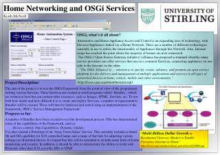 Home Networking and OSGi Services