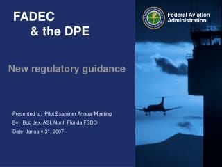 FADEC      & the DPE
