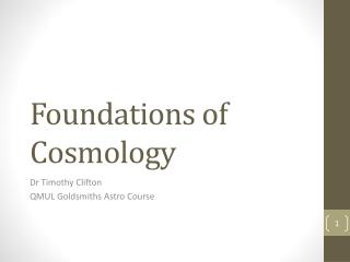 Foundations of Cosmology