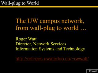Wall-plug to World