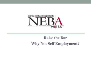 Raise the Bar Why Not Self Employment?